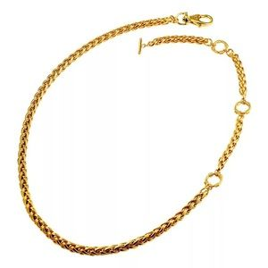 Gold stainless steel chain belt